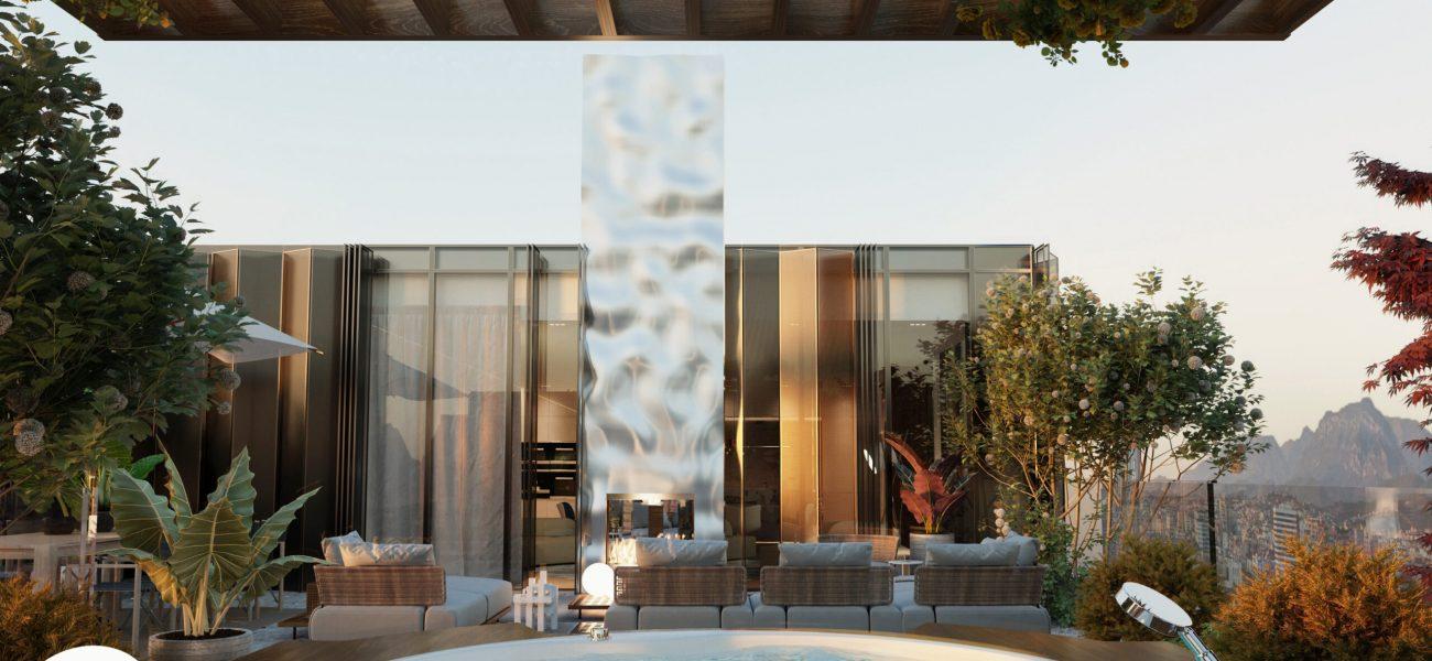 Penthouse me verandë private