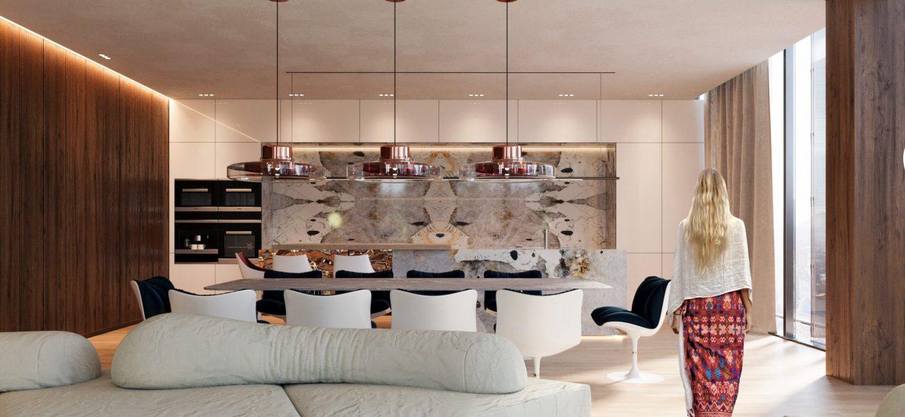 Apartamente elegante dhe komode tek Galeria Roma