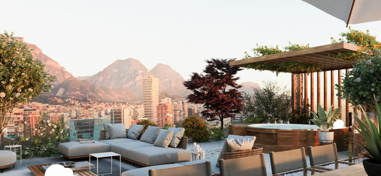 Pamje fantastike e Tiranës nga Penthouse juaj ne qender te Tiranes
