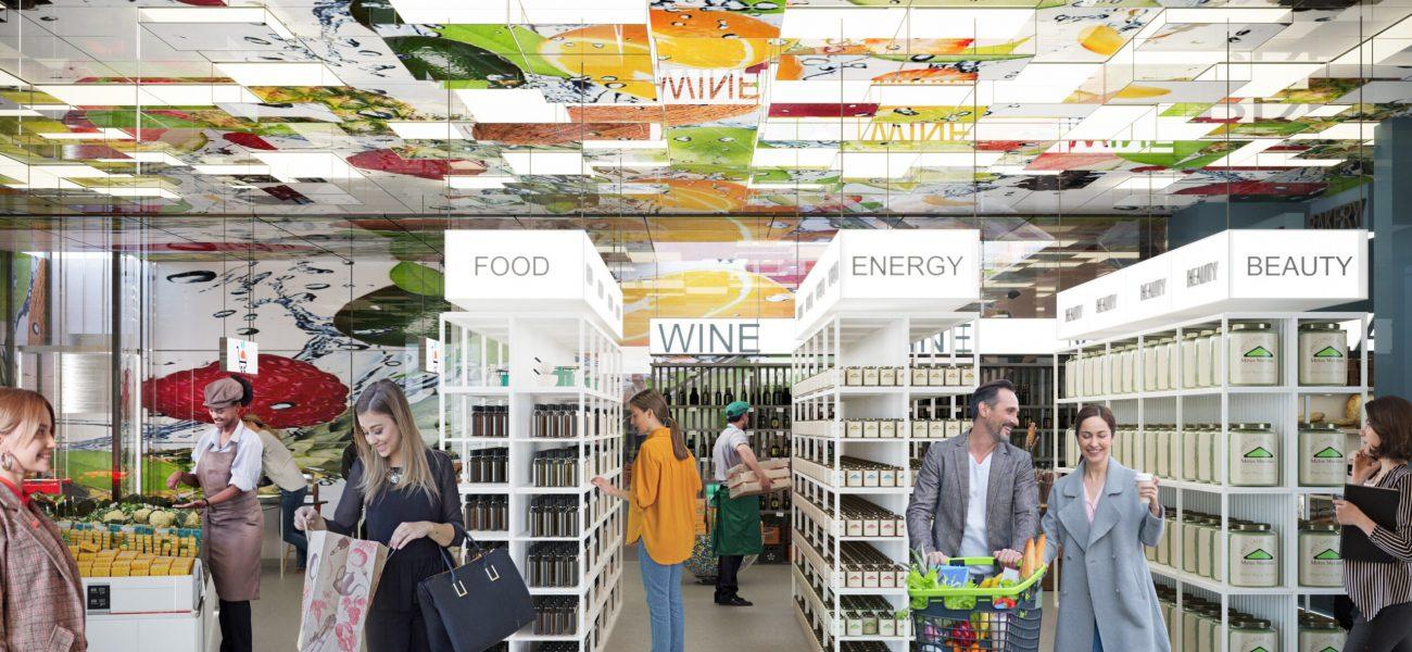 Supermarket rreth 1000 m2 ne Rrugen e Kavajes